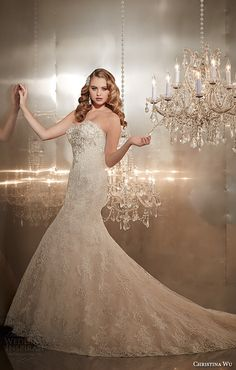 christina wu wedding dresses 2015 strapless sweetheart neckline beaded bodice gorgeous trumpet mermaid wedding dress 15565