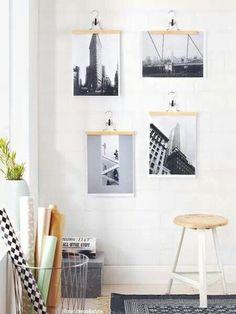 Making picture frames yourself: 16 DIY ideas- Bilderrahmen selber machen: 16 DIY-Ideen picture frame-making - Diy Wand, Handmade Home Decor, Diy Home Decor, Cadre Photo Diy, Marco Diy, Diy Interior, Interior Design, Diy Wall Decor, Interior Inspiration