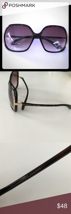 Marc by Marc Jacobs Diva sunglasses brown/ gold Marc by Marc Jacobs Brown tortoise sunglasses with gold accent. Brown ombré frame in good condition, lens are scratched but they can be replaced for $20 or made into prescription lenses. Marc by Marc Jacobs Accessories Sunglasses