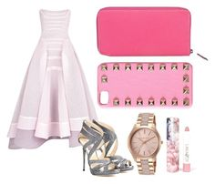 """""""Pink"""" by denitsaa on Polyvore featuring Jimmy Choo, Michael Kors, LAQA & Co., Valentino, Hermès, women's clothing, women, female, woman and misses"""