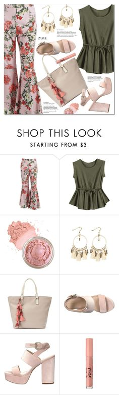 """""""Side Zip Floral Bell Bottom Pants"""" by duma-duma ❤ liked on Polyvore featuring Apt. 9 and Too Faced Cosmetics"""