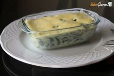espinacas-con-bechamel Muffin, Eggs, Pudding, Cheese, Breakfast, Desserts, Food, Gourmet, Home