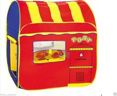 Large Kids Post office postmen mail Play Tent game house indoor outdoor pop out  #Unbranded