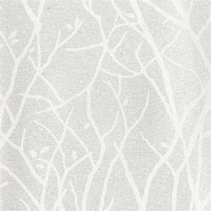Silver Magical Tree Branches Wallpaper, by Candice Olson