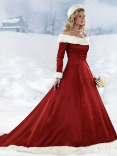 Christmas bride!It's easy to say that this winter wedding dresses make bride warm!