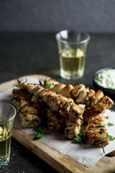 Chicken Souvlaki with Zucchini Tzatziki