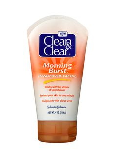 A FACE SCRUB WITH ROUND BEADS They add pinkness to your cheeks with one brisk rub. One of our favorites is Clean & Clear Morning Burst In-Shower Facial. Blonde Layered Hair, Clear Blackheads, Best Facial Cleanser, Makeup Over 50, Glossy Hair, Clear Face, Face Lotion, Look Younger, Beauty Hacks