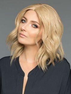Wig Pro Barbara Human Hair Wig, VANILLA LUSH Blend of Medium Amber Blonde and gold based Platinum