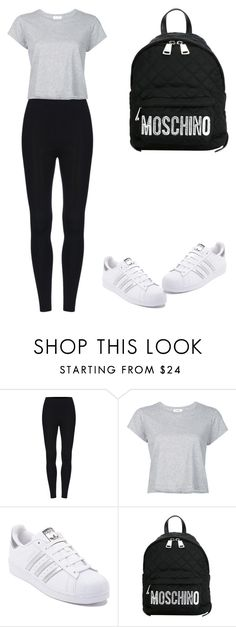 """Untitled #284"" by elma-alibasic ❤ liked on Polyvore featuring RE/DONE, adidas and Moschino"