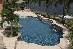 Swimming Pool Remodel in Ellis County Cool Swimming Pools, Swimming Pool Designs, Cool Pools, Pool Kings, Backyard Pool Designs, Backyard Ideas, Roman Pool, California Pools, Pool Plaster