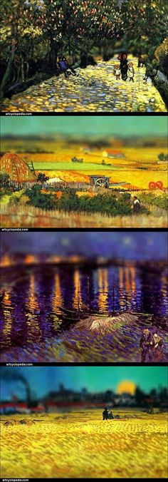 Tilt-Shift Van Gogh...this effect is SO awesome!
