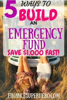 Experts like Dave Ramsey agree – you need an emergency fund! We'll show you how to build an emergency fund quickly, easily, and painlessly. You can save $1,000 in no time!