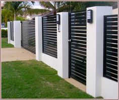 Super Privacy Fence Designs gallery includes featured privacy fences made from many types of materials and features many different designs. Fences, Backyard fences, Fencing