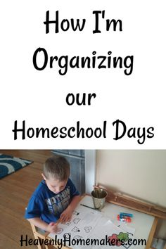 This is how I'm organizing our homeschool days. For now. Flexibility is key! Come get ideas to see what might work for you!