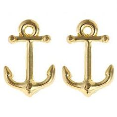 Anchor Earrings by ThePinkPineappleShop on Etsy https://www.etsy.com/listing/183926894/anchor-earrings