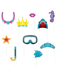 Under the Sea Photo Props Set - Individualized Decorations & Supplies & Decorations