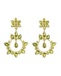 Amrita Singh 'Principessa' Plated Crystal Drop Earrings