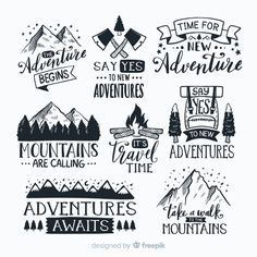 Travel The World Pictures Beauty Printing Videos Texture Product Holiday Logo, Mountain Designs, Calligraphy Quotes, Free Logo, Logo Nasa, Illustrations, Adventure Travel, Adventure Holiday, Cricut Design
