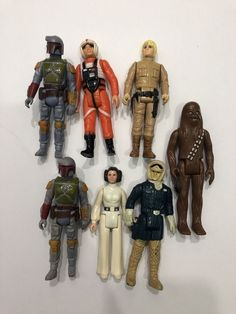 Lot Of 7 StarWars Action Figures Chewbaca Hans Solo Princess Lea Luke Princess Lea, Starwars, Action Figures, Movies, Fictional Characters, Vintage, Ebay, 2016 Movies, Films