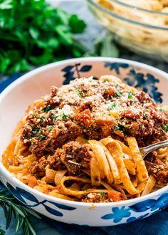 Braised Beef Ragu Fettuccine - Jo Cooks