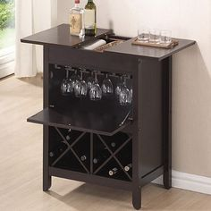 Tuscany Modern Dry Bar and Wine Cabinet in Brown - BedBathandBeyond.com