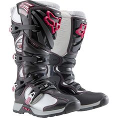 Comp 5 Boots Fox Racing Women's.  Just the right light touch of pink - Storm Trooper boots! hehe