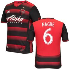 Darlington Nagbe Portland Timbers adidas 2016 Authentic Secondary Jersey - Red