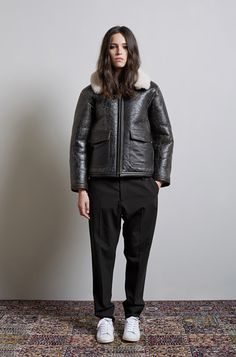 La Garconne Atelier No.II - Shearling Flight Jacket by R13   Law Trouser by Hope   Bart Sneaker by Isabel Marant Etoile
