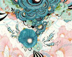 Art Prints and Original Artwork of Yellena James by yellena Art And Illustration, Yellena James, Organic Art, Ink Pen Drawings, Grafik Design, Pattern Art, Prints For Sale, Oeuvre D'art, Original Artwork