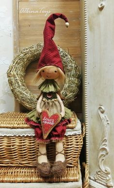 Textile Doll — Home Gnome | Домовая гномочка Маня. Текстильная чердачная кукла