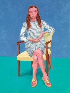 David Hockney, Oona Zlamany, July 22-23, 2014, Acrylic on canvas, 48 x 36 in.