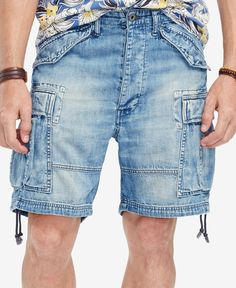 Denim & Supply Ralph Lauren Denim Cargo Shorts