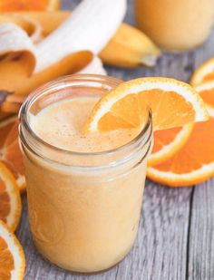 "Vegan ""Orange Julius"" Smoothie. All the flavor you love, none of the artificial ingredients! #SummerSoiree #smoothie #vegan"