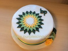 Corporate cake for bp How To Make Cake, Icing, Purple, Desserts, Food, Tailgate Desserts, Deserts, Meals, Dessert