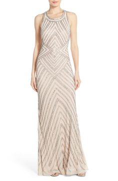 Adrianna Papell Embellished Cross Back Gown available at #Nordstrom