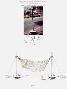 Autoproduzione - Riconversione progettuale (Amaca), Ugo La Pietra, 1979, courtesy Archivio Ugo La Pietra / Ugo La Pietra. Interventi urbani / Dall'Austerità alla Partecipazione.