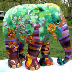 Flower Power by Brian Sibley, via Flickr  Elephant Parade, Green Park, London, May 2010.
