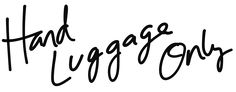 Hand Luggage Only Blog Header Logo Transparent in Black Second