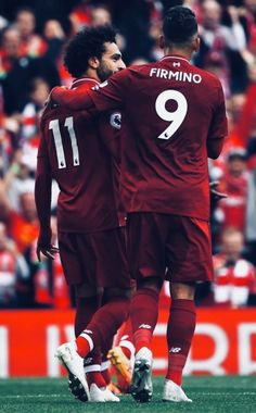 Salah y Firmino Liverpool Fc, Liverpool Players, Liverpool Football Club, Best Football Team, Football Players, Premier League, Cr7 Messi, Neymar, Liverpool Wallpapers