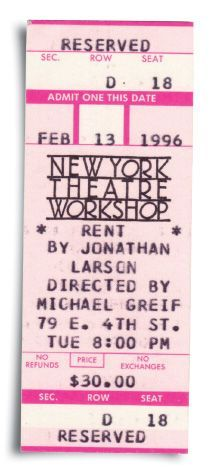 RENT: The Oral History Jonathan Larson, Rent Movies, Oral History, Admit One, It Cast