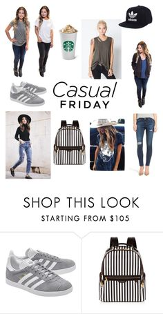 """""""CASUAL FRIDAY VIBES"""" by shopdaisydukes on Polyvore featuring adidas Originals, Henri Bendel and adidas"""