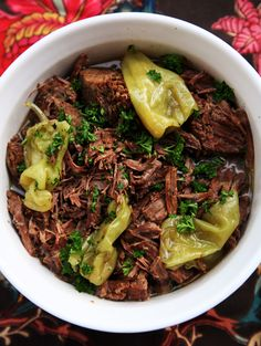 Mississippi Pot Roast flavored with pepperoncini & ranch dressing mix