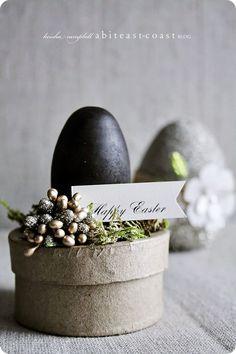 glittery chic Easter eggs.