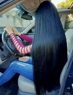 So What?! Long Straight Black Hair, Long Dark Hair, Long Black, Beautiful Long Hair, Gorgeous Hair, Down Hairstyles, Straight Hairstyles, Silk Hair, Super Long Hair