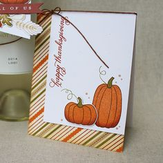 Happy Thanksgiving Card by Lizzie Jones for Papertrey Ink (August 2016)