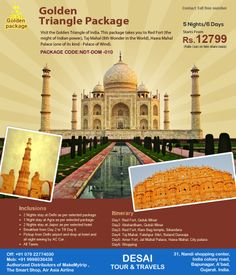 Exceptional #Golden #Triangle #Tour #Package in India -  Golden Triangle Tour Package in India - is a most popular tour which covers Delhi Agra and Jaipur of Rajasthan. This triangle of three cities perfectly captures the pageantry of India.
