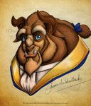Disney Character Portrait: Beauty & The Beast - Beast 516 Arte Disney, Disney Love, Disney Magic, Disney Stuff, Disney Films, Disney Pixar, Disney Animation, Beauty And The Beast Art, Sketch Painting