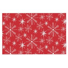 KESS InHouse Julie Hamilton 'Snowflake Berry' Holiday Dog Place Mat, 13' x 18' *** See this awesome image  : Dog food container