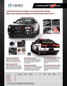 Crown North America is the Dodge and Mopar® authorized source for Law… Police Test, Police Academy, Police Patrol, Police Cars, Police Vehicles, 2013 Dodge Charger Rt, Radios, 4x4, Police Officer Requirements