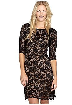 Karen Kane Sequoia Scallop Hem Lace Dress #belk #lace